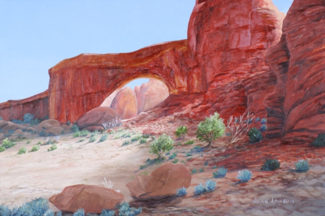 "Arches Nat'l Park, Acrylic on Wrapped Canvas, 24""x36"", $2200"